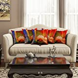 [Sponsored]SEJ Cotton (Set Of 5) HD Digital Premium Cushion Cover 16 By 16 INCH Multicolor
