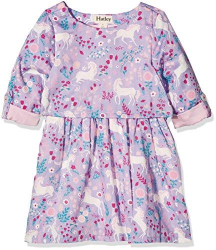Purple Christmas Holiday Kleid (Hatley Mädchen Kleid Layer Dress, Purple (Unicorns in the Garden), 4 Jahre)