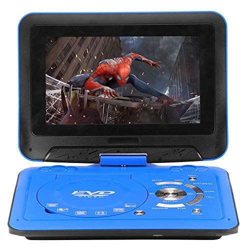 9,8 Zoll Tragbarer DVD-Player Mit Fernbedienung, Hohe Auflösung, Akku, Wiedergabe in Formate AVI/RMVB / MP3 / JPEG, Unterstützung USB Und SD-Karte (Blau)