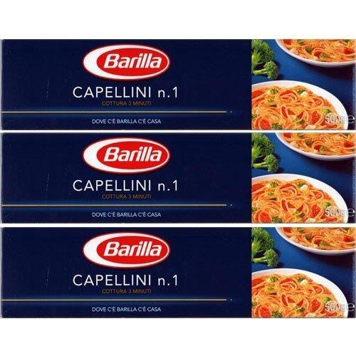 3x Barilla Nudeln 'Capellini' n.1, 500 g