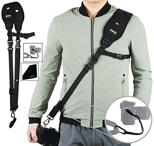 PROWITHLIN Kamera Gurt - Schultergurt mit Sicherheits Tether Montageplatte für Kamera DSLR SLR (Canon Nikon Sony Olympus Pentax, etc.) (Aus Sicherheits-kamera)