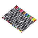 Joykk Lot de 24 marqueurs à pointe fine pour tableau blanc à encre à base d'eau 0,4 mm