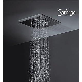 Edelstahl Decken Regendusche 500 x 500 x 15 mm Dusche für Deckenmontage von Sanlingo