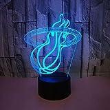 Sports 3D Lampe Basket Panier 3D Lumière De Nuit Décorations De Noël Enfants Interface Usb Led Lampe...