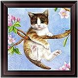 PanDaDa DIY 5D Diamante Colorido Cat Pintura Mosaico Cruz Stitch Home Decor