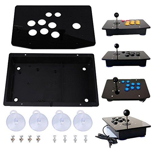de Gaming Kit, schwarzes Acrylpanel und Gehäuse DIY Set Arcade-Spiel DIY Teile Kit mit schwarzem Acrylglas und Gehäuse, einfach zu montieren ()