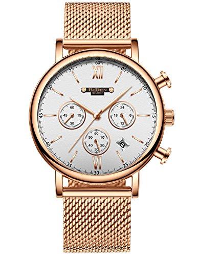 Herren Chronograph Uhren Herren wasserdicht Fashion Luxus Kleid -