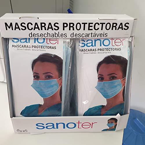 Woodlandu Einweg-Anti-Staub-Gesicht Dicker Masken Packung mit 100 Stück mit Earloop (blau), ideal für den persönlichen, medizinischen und Schönheitszweck