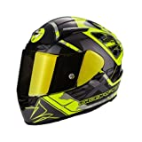 Scorpion Casco de moto EXO-2000 EVO AIR Brutus, amarillo neón y plata, talla S