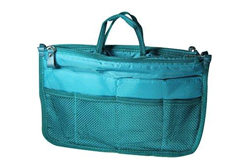 NOV@GO® (version premium) Organiseur/Pochette/sac de rangement intérieur pour grand sac à main ou sac de voyage (Turquoise)