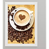 Coffee Corner Wall Framed Picture - White Frame