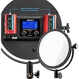 SET - Walimex Pro Soft LED 300 Round Bi-Color CRI: 93-95Ra TLCI >95 avec Baxxtar PRO batterie pour NP-F550