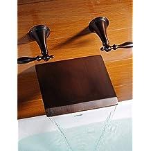 KISSRAIN® Vasca da bagno rubinetto - Antique - Cascata olio strofinato bronzo)