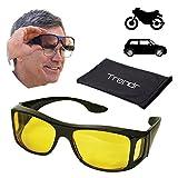 Polarisierend/Sonnenbrille Bremsleitung, Nacht Auto und Motorrad-Sonnenbrille/Nachtsicht/Nachtsicht/Brille Anti blendung/Vision von Nacht verbessert/SE Tür über Brille Tageslinsen