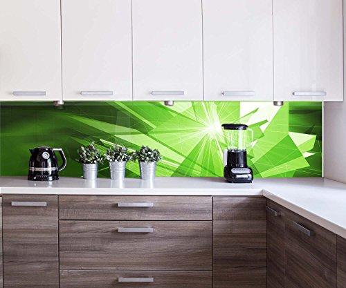 Küchenrückwand Grüne Dynamik Nischenrückwand Spritzschutz Design M0425   260 x 60cm (B x H)   Plexiglas 3mm