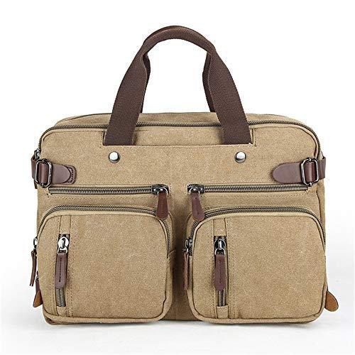 Aihifly Mannes Tablet für Unternehmen Reise Business Aktentasche Laptop Rucksack Casual Daypacks Outdoor Cabrio Rucksack Schule Schulter Handtasche Tote Bag für Männer Frauen (Farbe : Khaiki) - Cabrio Rucksack Tote