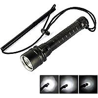 LED Scuba Torcia Flashlight, Meyoung ricaricabile LED torce lampada 6000