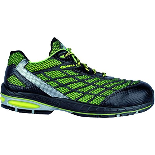 Cofra scarpe di sicurezza Trivela S1P New Jogging 19100–000altamente traspirante, Verde, Verde, 19100-000