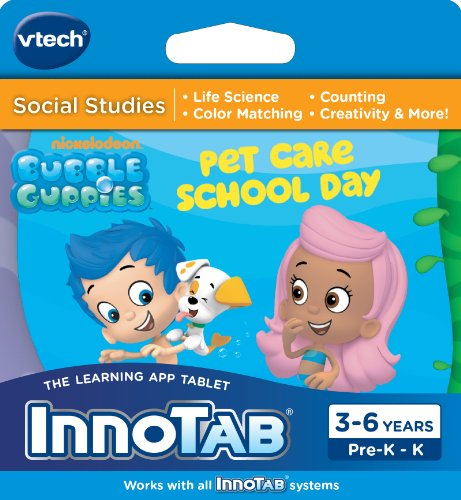 Vtech Innotab Software - Bubble Guppies Pet Care School Day