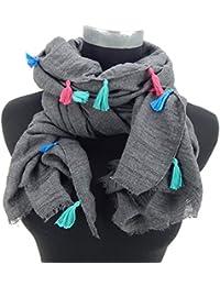 fe63e3b8e988 Ella Jonte FOULARD ÉCHARPE FEMME by élégant parfait a combiner gris agréable  ...