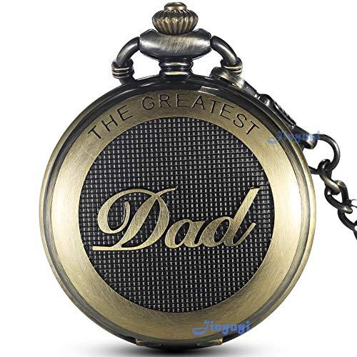 Gorben orologio da tasca al quarzo full hunter stile antico con catena da uomo ideale per il papà con scatola