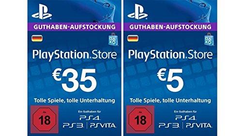PlayStation Store Guthaben-Aufstockung 35 EUR + 5 EUR Gratis [PSN Code - deutsches Konto]