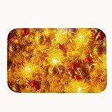 """whiangfsoo Abstract Golden Navidad Golden con purpurina y estrellas alfombra baño cocina entrada Coral Fleece Doormats Capet, #01, 16"""" x 24""""(40 x 60cm)"""