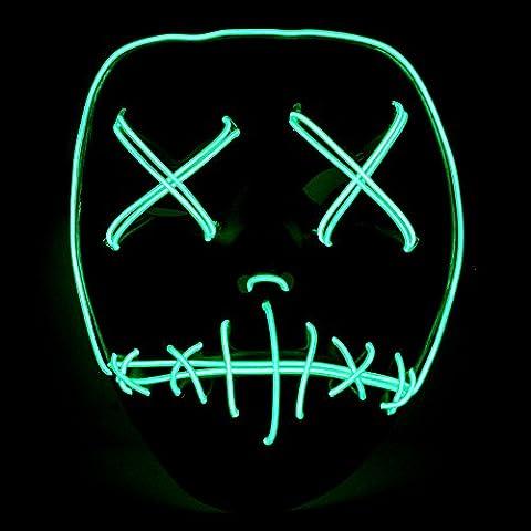 The Purge Film El Draht DJ Party Halloween Kostüm Horror Maske–Neon Grün (Purge-kostüme Für Halloween)