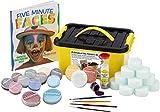 Snazaroo Profi Schmink - Koffer Set Face Painters, 15 Farben & Glittergel, 4 Pinsel, 10 Schwämmchen & Schminkbuch