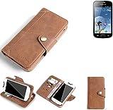 K-S-Trade Hülle für Xiaomi Tech Mi 4i Schutz Hülle Tasche Handyhülle Schutzhülle Handytasche Wallet case Flipcase Cover Kunstleder Braun