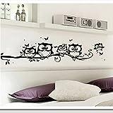 Indexp Vinyl Art Cartoon Owl Butterfly Wall Sticker Home Decor Decal
