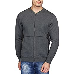 Numero Uno Mens Cotton Sweatshirt (NMSSFZ254_Anthra Melange_X-Large)