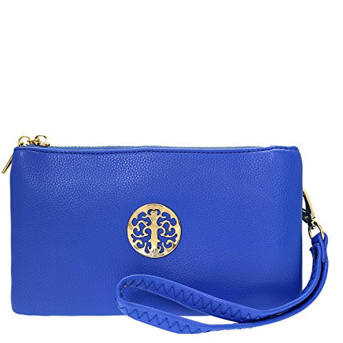 2d9dbc6d94 Small Clutch Bags with Wristlet and Long Adjustable Strap - Packaged With FREE  Elegant Tiana Marie Dust bag … (Sapphire Blue) - Buy Online in Oman.