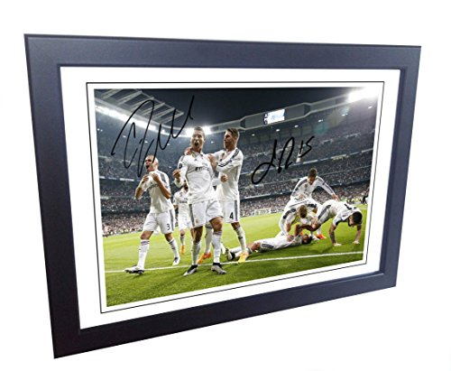 12x 8foto firmada Cristiano Ronaldo Sergio Ramos Real Madrid firmada A4foto imagen
