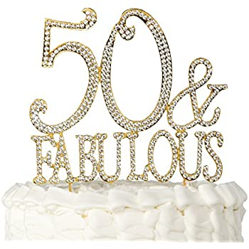 50 Fabulous Cake Topper for 50th Birthday Party Decoration