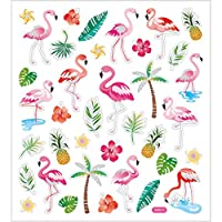 Pink Flamingos Mix Fancy Stickers Kids Crafts, Card Making, Gitter, Foiled 29138