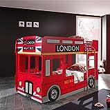 'Autobett sccobb01Fun Kombination London Bus Etagenbett und London Bus Schrank MDF 215x 96x 190cm