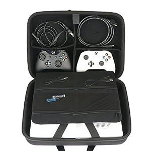 Hart Reise Schutz Hülle Etui Tasche für Microsoft Xbox One X Konsole + Kinect Sensor + Wireless Controller von co2CREA