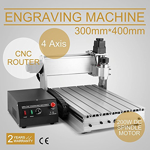 BuoQua Fräsmaschine 3040T CNC Graviermaschine 4 Achsen Mit USB 4MM Engraver Machine Gravur Maschine für Metall Glas Holz - Stein Maschine Carving
