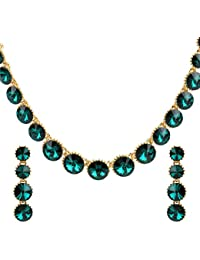 Ananth Jewels Made With Swarovski Elements Crystals Necklace And Earrings For Women