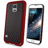 vau Bumper Cuboid - red - TPU Silikon-Case, Tasche für Samsung Galaxy S5
