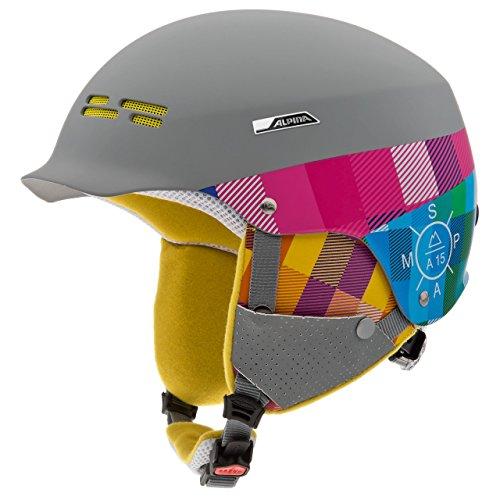 Alpina Erwachsene Skihelm Spam Cap, Grau (Grey-Pink Matt), 54-57 cm, 9033225