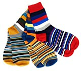 3er-Set moderne Business-Socken fuer Herren von Cheeky Business - Bunte Socken aus Baumwolle in Premium-Qualitaet - Farbenfrohe Business-Struempfe (Gemischte-Streifen), mehrfarbig,  41/44