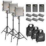 Neewer Bi-Farbe LED 480 Video Licht und Ständer Kit: 3200-5600K