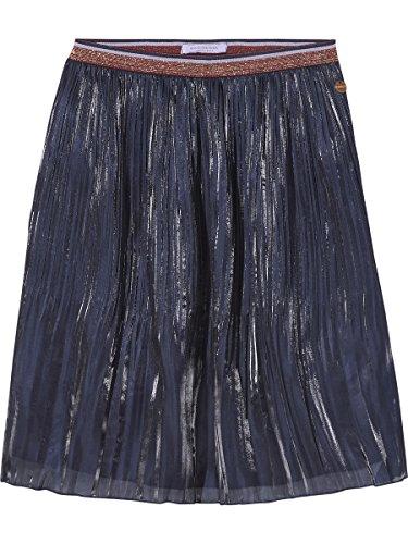 Scotch & Soda R'Belle Mädchen Rock Silky Crinkled Skirt, Blau (Night 002), 128 (Herstellergröße: 8)