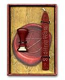 JapanAttitude Coffret Sceau Cachet Magique avec Cire Rouge 12x8,5cm