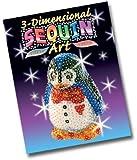 KSG Arts and Crafts 3D Sequin Art 0503 Penguin 3D Polystyrene Model Kit