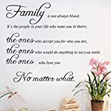 Wall Art Sticker Vinyl Family Wall Decal Mural Quote Lettering Living Room Decors Sticker