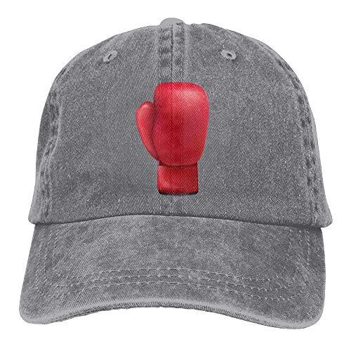 Xukmefat Boxing Glove 3 Denim Hat Adjustable Womens Dad Baseball Cap 0757