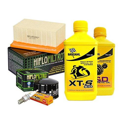 Tagliando Bardahl XTS 10W40 filtro olio aria candele cambio 75W90 R 1200 GS.